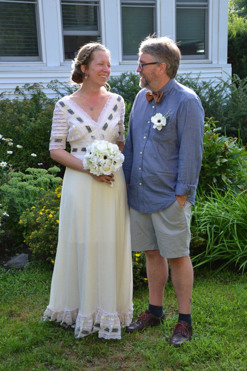 At our wedding party, August 2, 2014.