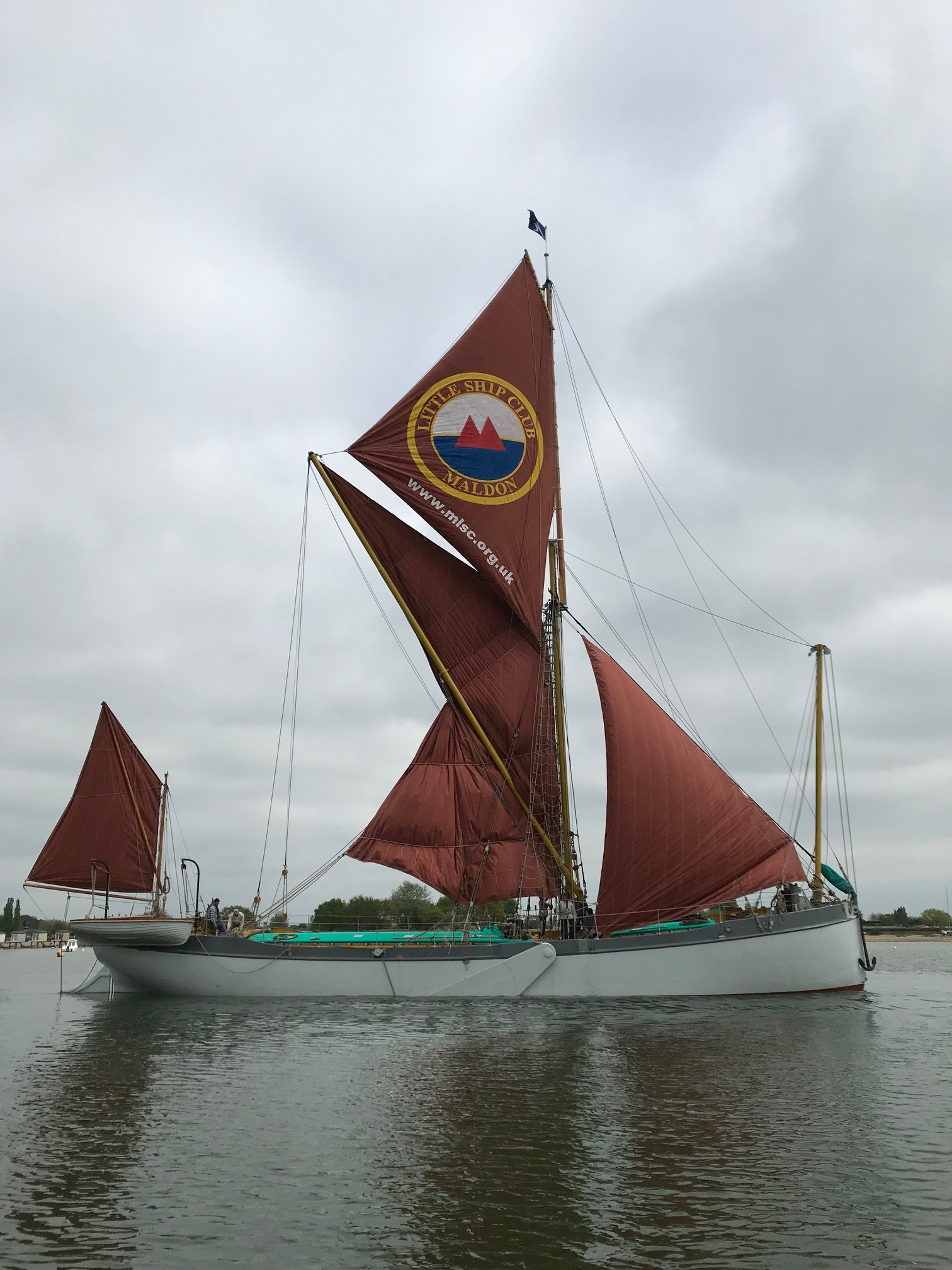 "- The high water on the morning of the 30th of April 2019 brought with it the first sail for Blue Mermaid. Various skippers, crew and supporters joined Richard and Hilary for the ensuing three day ""shake down"" sail. Any alterations that were deemed necessary were noted and began as soon as she was back at the yard. After almost a month of finishing touches, coats of paints and various cleats being welded on Blue Mermaid invited their first group on board on the 28th of May."