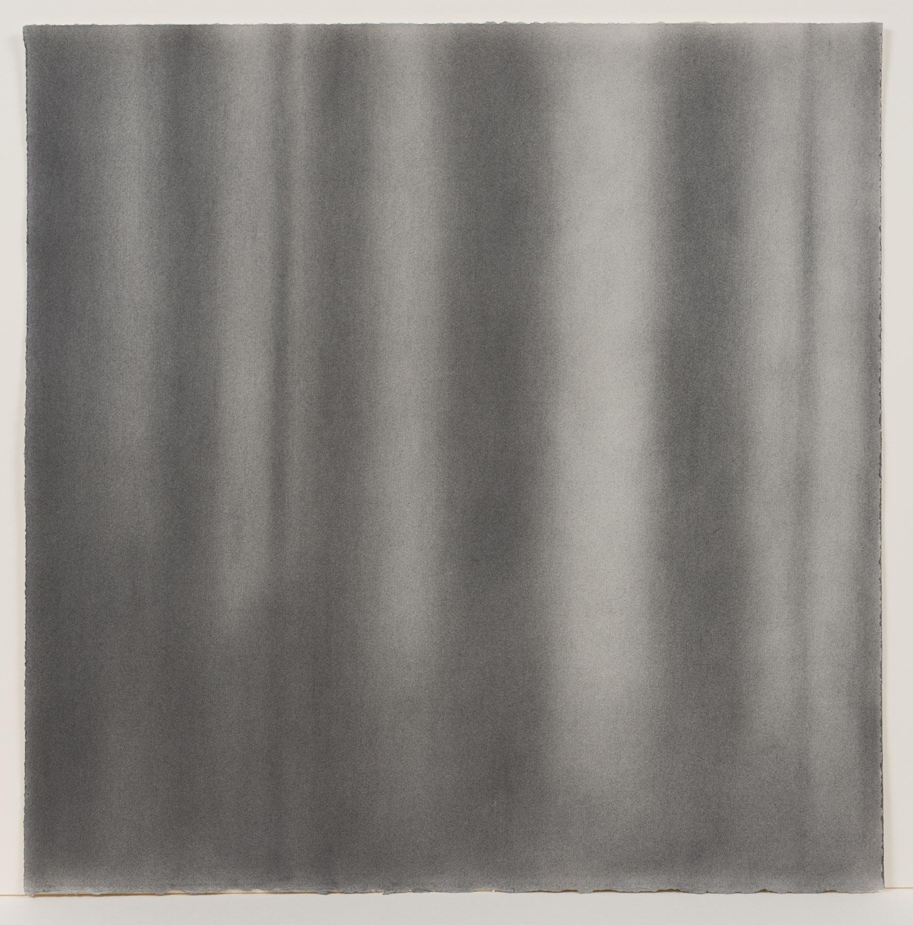 """Andréanne Godin,  #04 : History of a Landscape (Variation III)  de la série  Descriptions de paysages , 2015, poudre de graphite sur papier Arches, 61 x 61 cm (24"""" x 24"""")"""