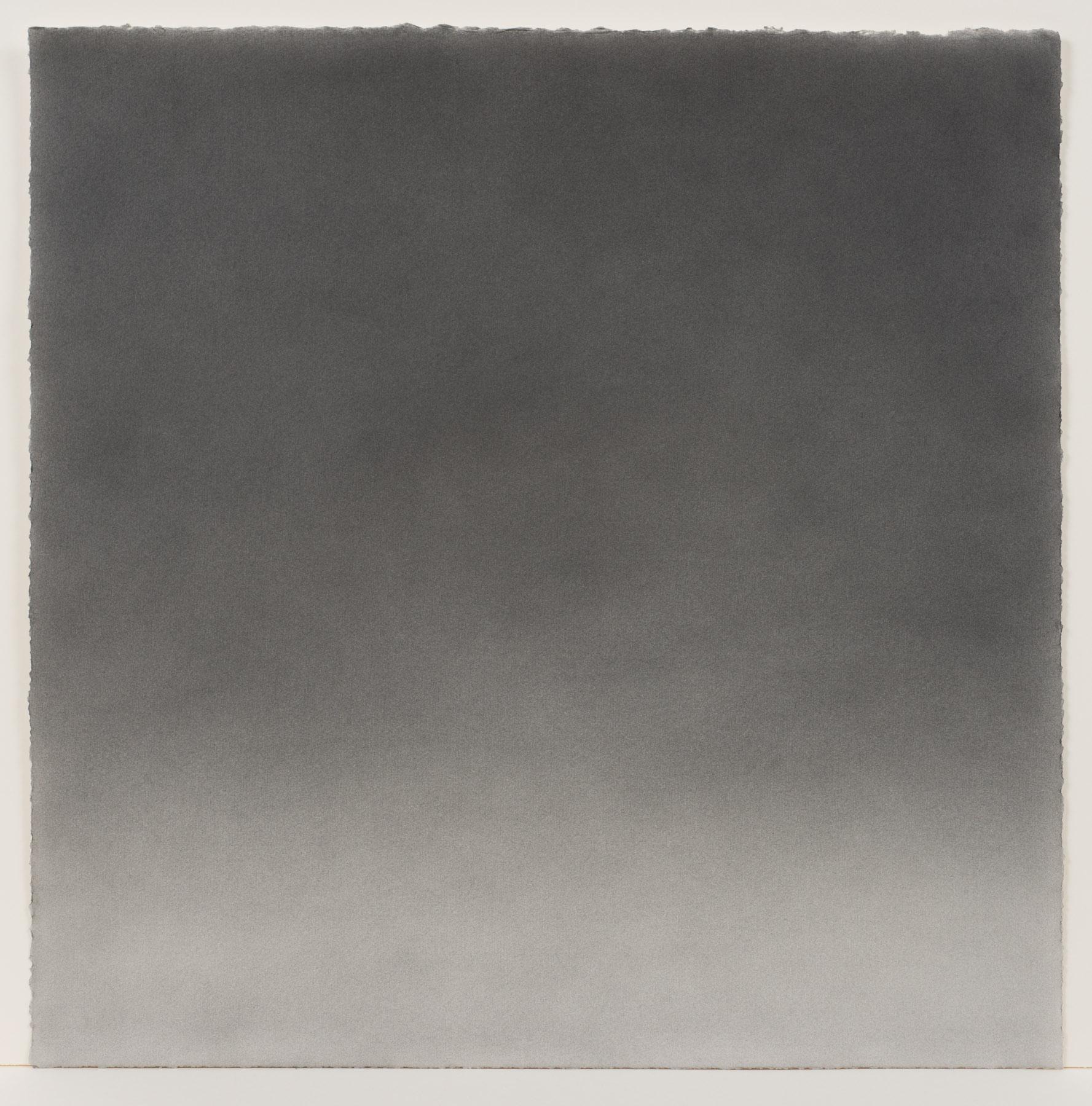 """Andréanne Godin,  #04 : History of a Landscape (Variation II)  de la série  Descriptions de paysages , 2015, poudre de graphite sur papier Arches, 61 x 61 cm (24"""" x 24"""")"""