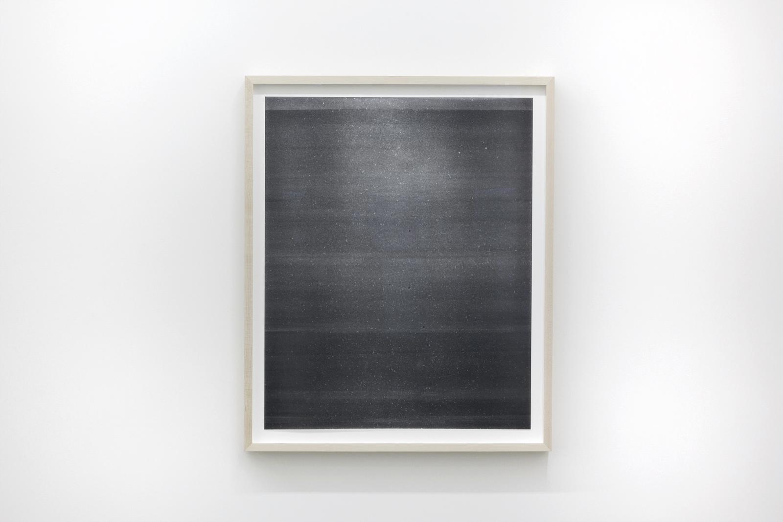 """Jim Verburg,  Untitled (de la série Metaphysical Obstacles and The Acceptance of the Inevitable) , 2016, peinture à base d'huile sur Mylar givré, 69 x 56 cm (27"""" x 22"""")"""