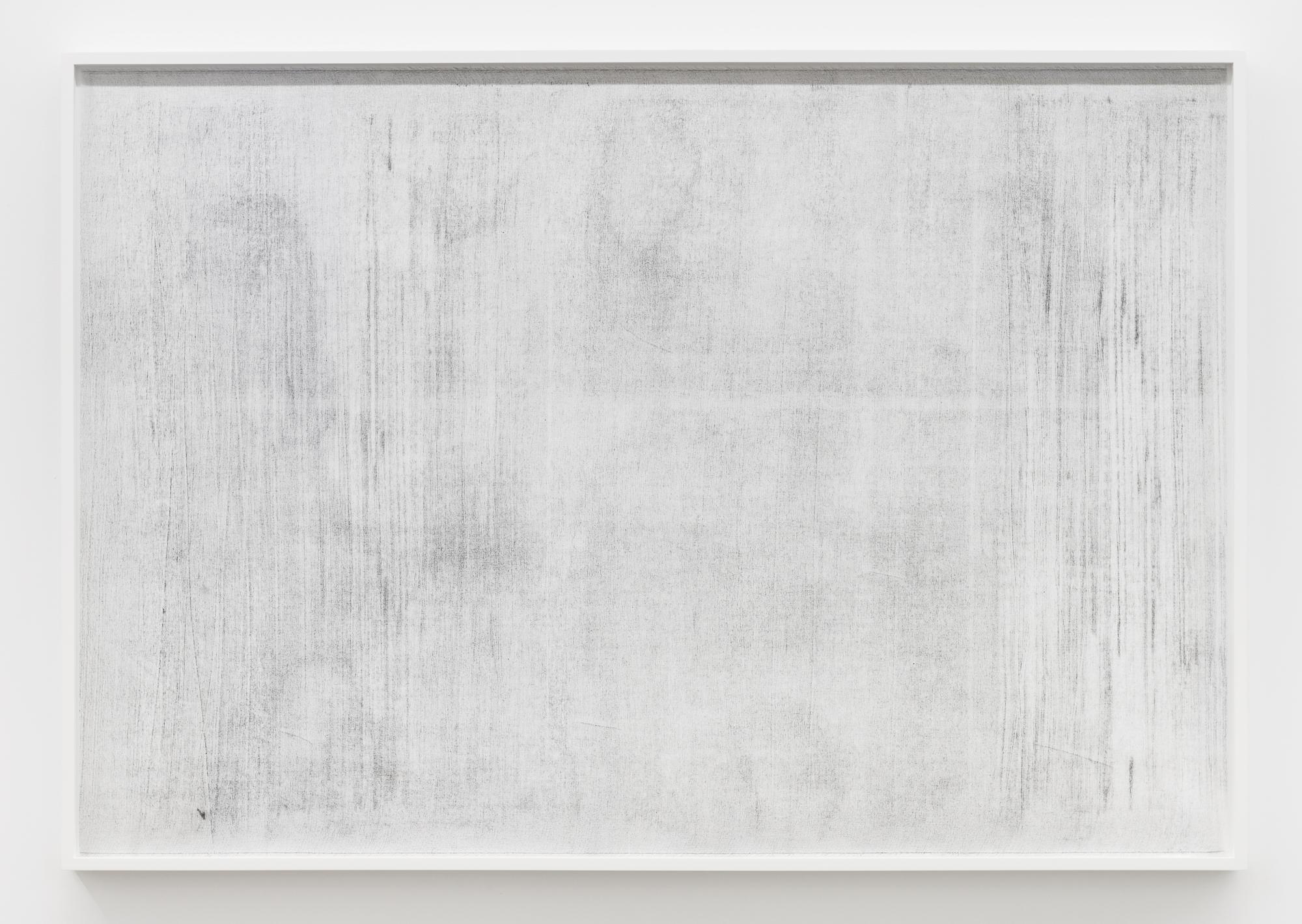 """Jim Verburg,  Sans titre (Where it becomes clear #1) , 2018, huile graphite et fusain sur tarlatan, 102 x 147 cm (41"""" x 59"""")"""