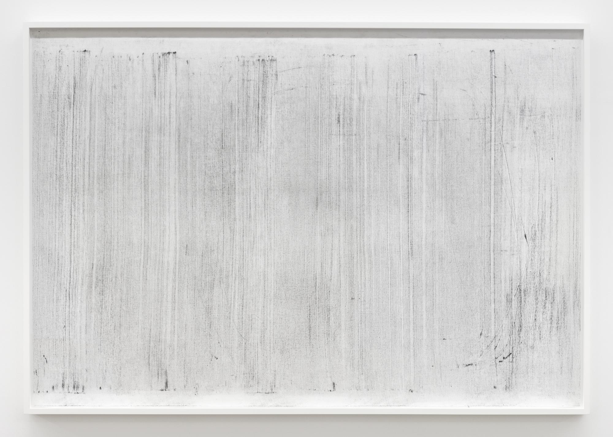 """Jim Verburg,  Sans titre (where it becomes clear #2),  2018, huile, graphite et fusain sur tarlatan, 102 x 147 cm (41"""" x 59"""")"""
