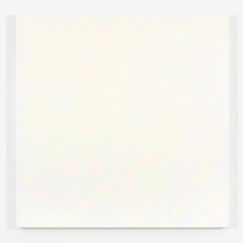 """Pierre Julien,  Purple Haze / The gathering of the clouds no. 5 , 2015, plâtre et acrylique sur panneau de bois, 122 x 122 cm (48"""" x 48"""")"""