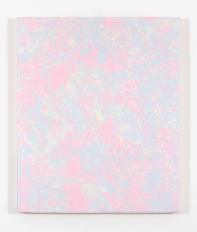 """Pierre Julien,  Cotton Candy , 2015, plâtre et acrylique sur panneau de bois, 91 x 76 cm ( 36"""" x 30"""")"""