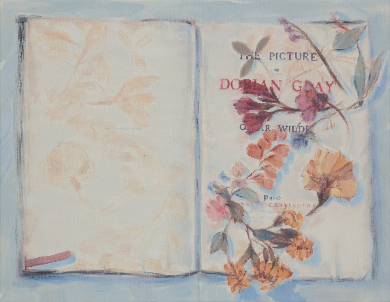 "Kris Knight,  Slipping Petals , 2018, huile sur toile, 36 x 46 cm (14"" x 18"")"