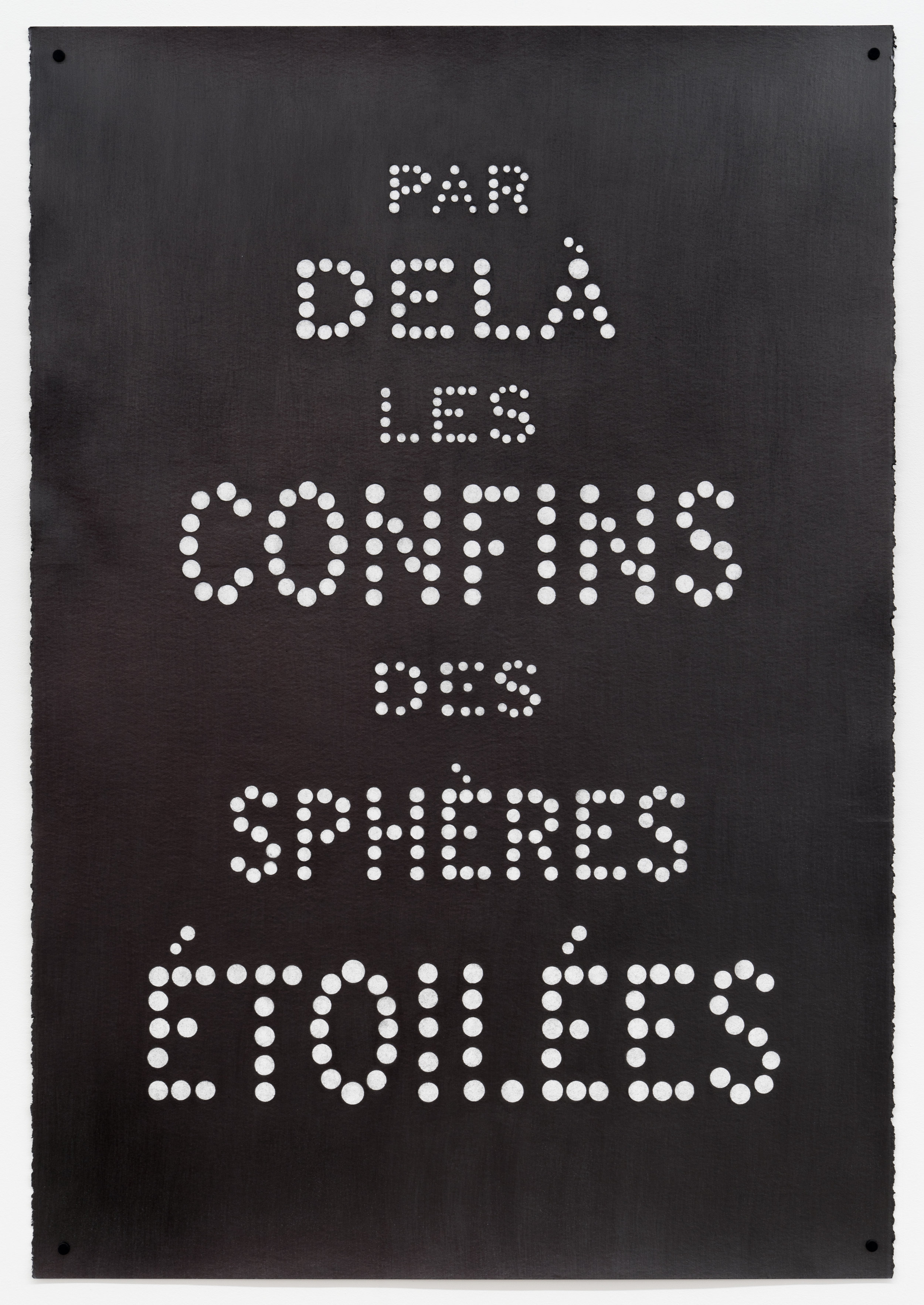 """Carl Trahan,  The Sacred Canopy - Par-delà les confins des sphères étoilées ,   2018, graphite sur papier, 111 x 77 cm (44"""" x 30"""")"""