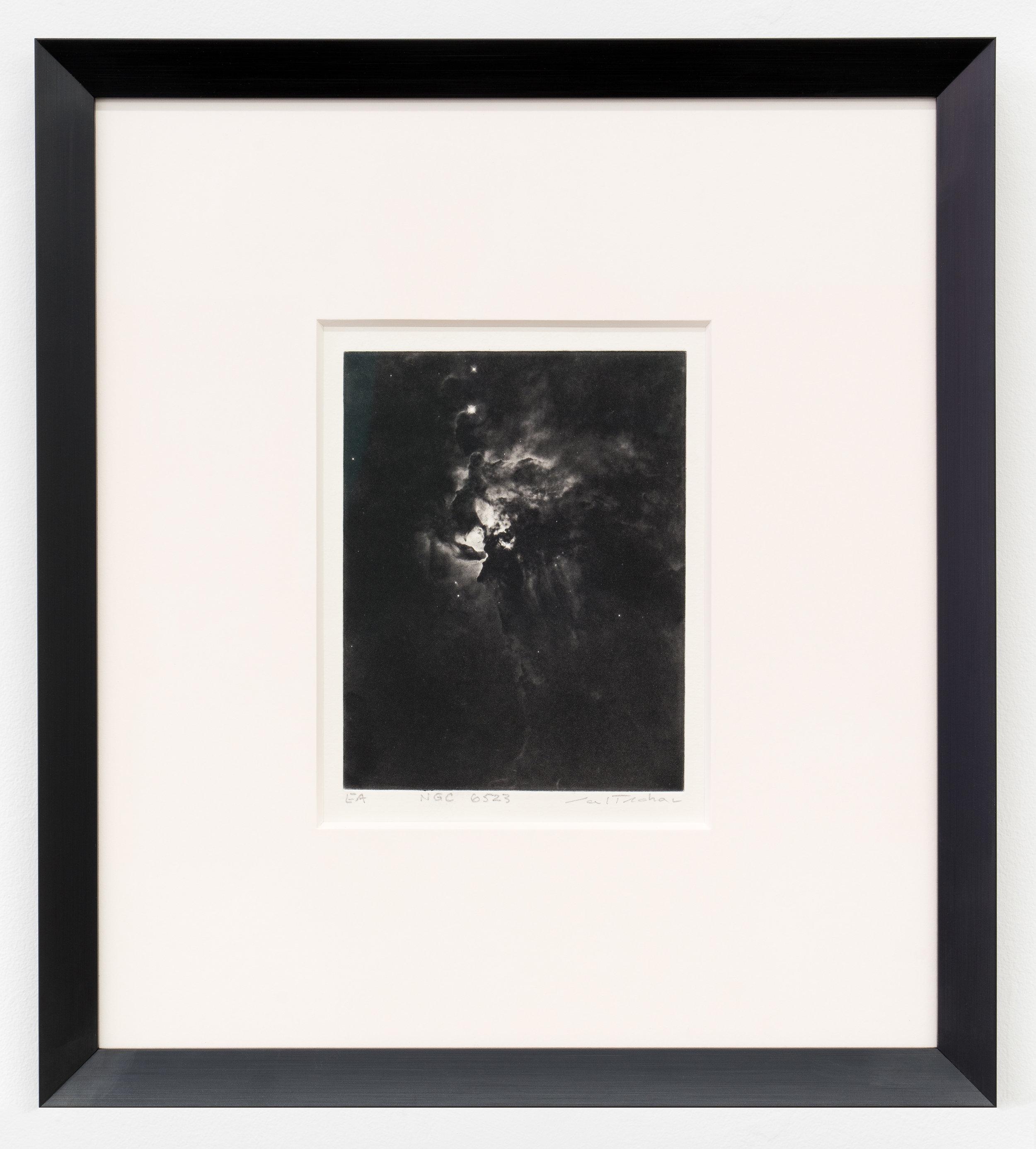 """Carl Trahan,  NGC 6523 , édition de 4,   2018, estampe à l'eau forte sur papier, imprimé par Maria Chronopoulos, 26 x 22 cm (10"""" x 8.5"""")"""