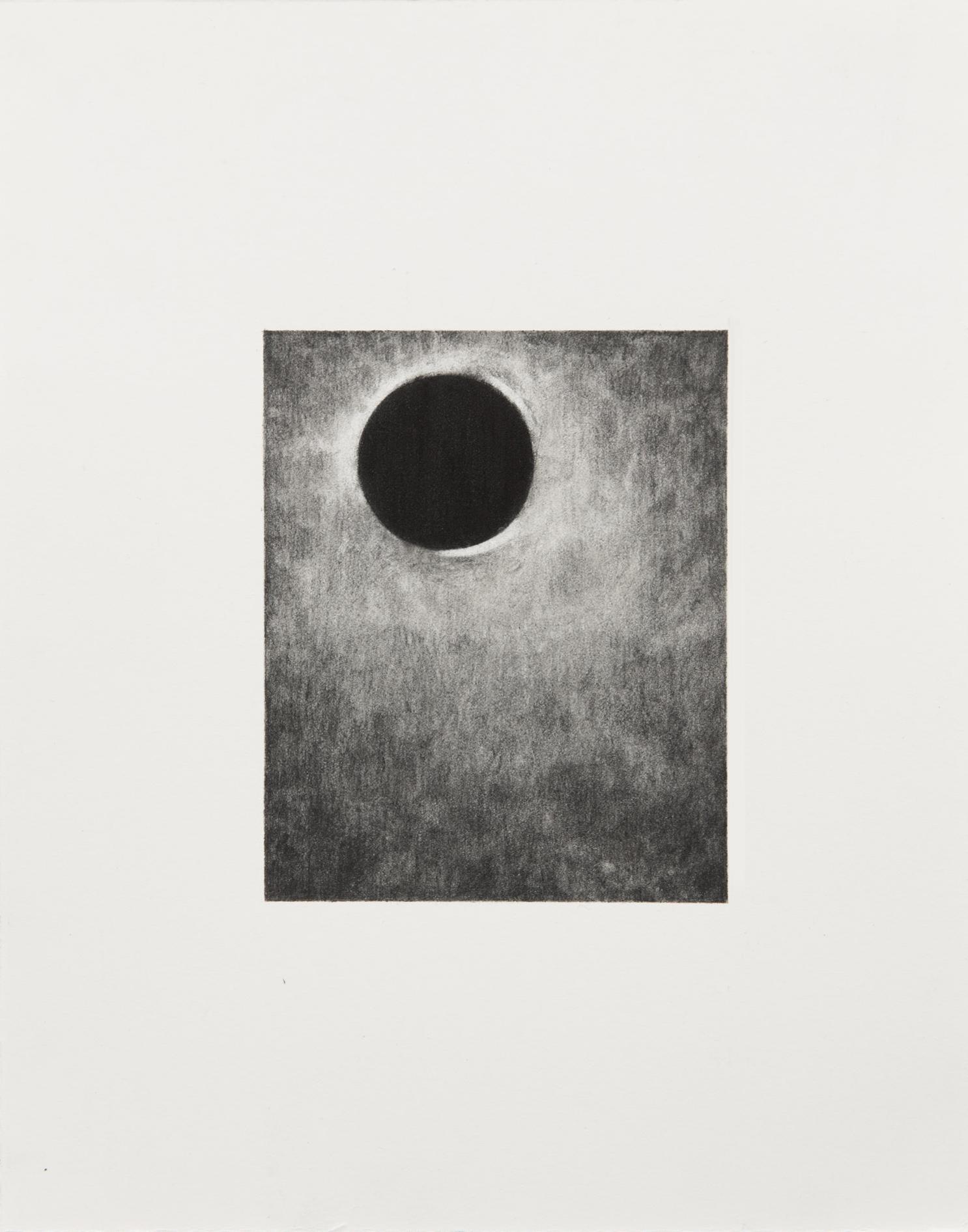 "Carl Trahan,  O   2,  2018, graphite sur papier, 12 x 10 cm (5"" x 4"")"