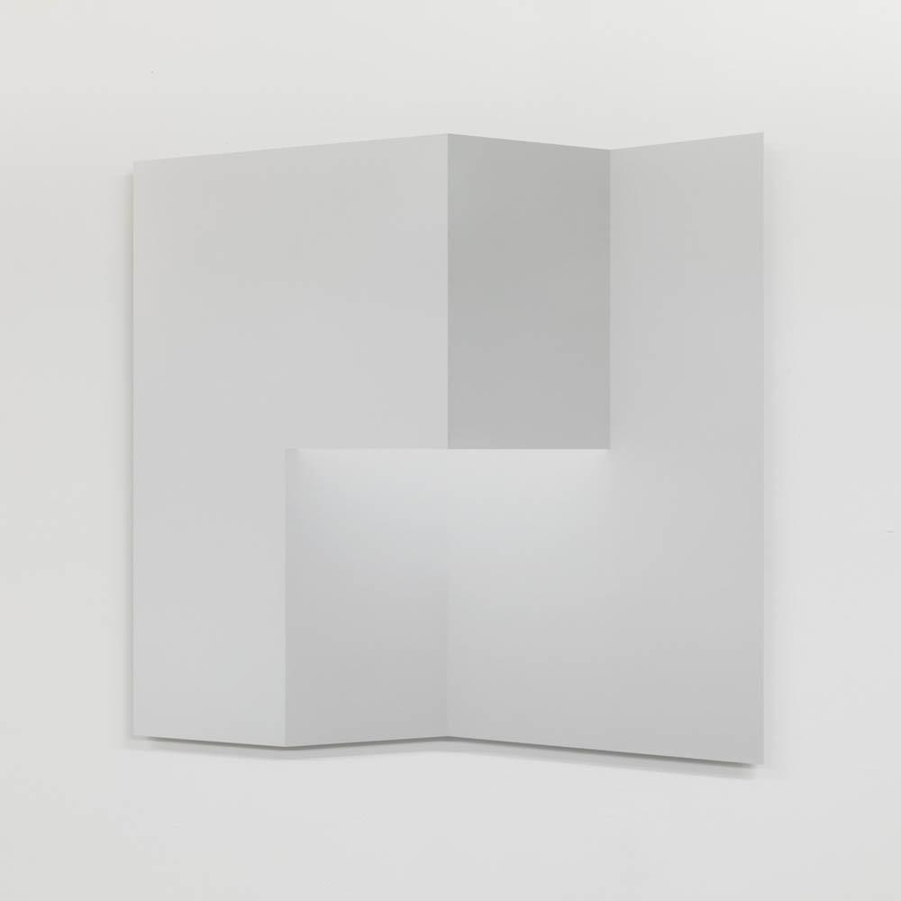 """Caroline Cloutier,  Pliage 4 , 2018, encre sur papier monté sur aluminium, 108 x 108 cm (42.5"""" x 42.5"""")"""