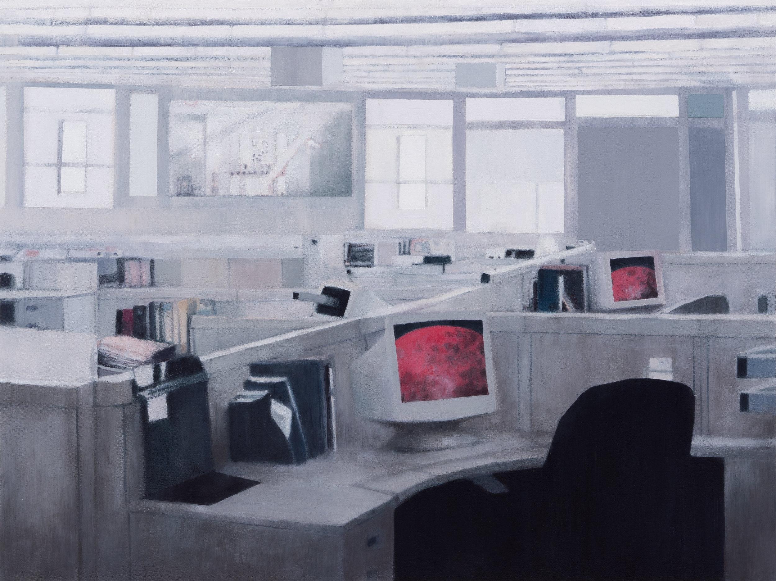 """Joe Lima, Close to Critical, 2019, peinture à l'huile et cire sur toile, 76 x 102 cm (30"""" x 40"""")"""