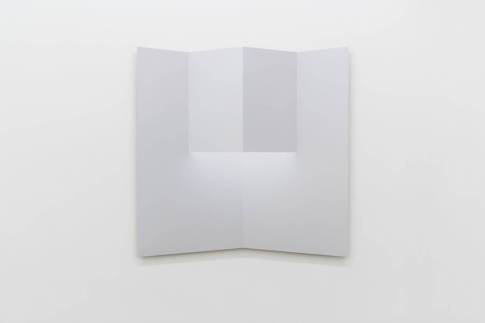 """Caroline Cloutier, Pliage 2 , 2018, encre sur papier monté sur aluminium, 108 x 108 cm (42.5"""" x 42.5"""")"""
