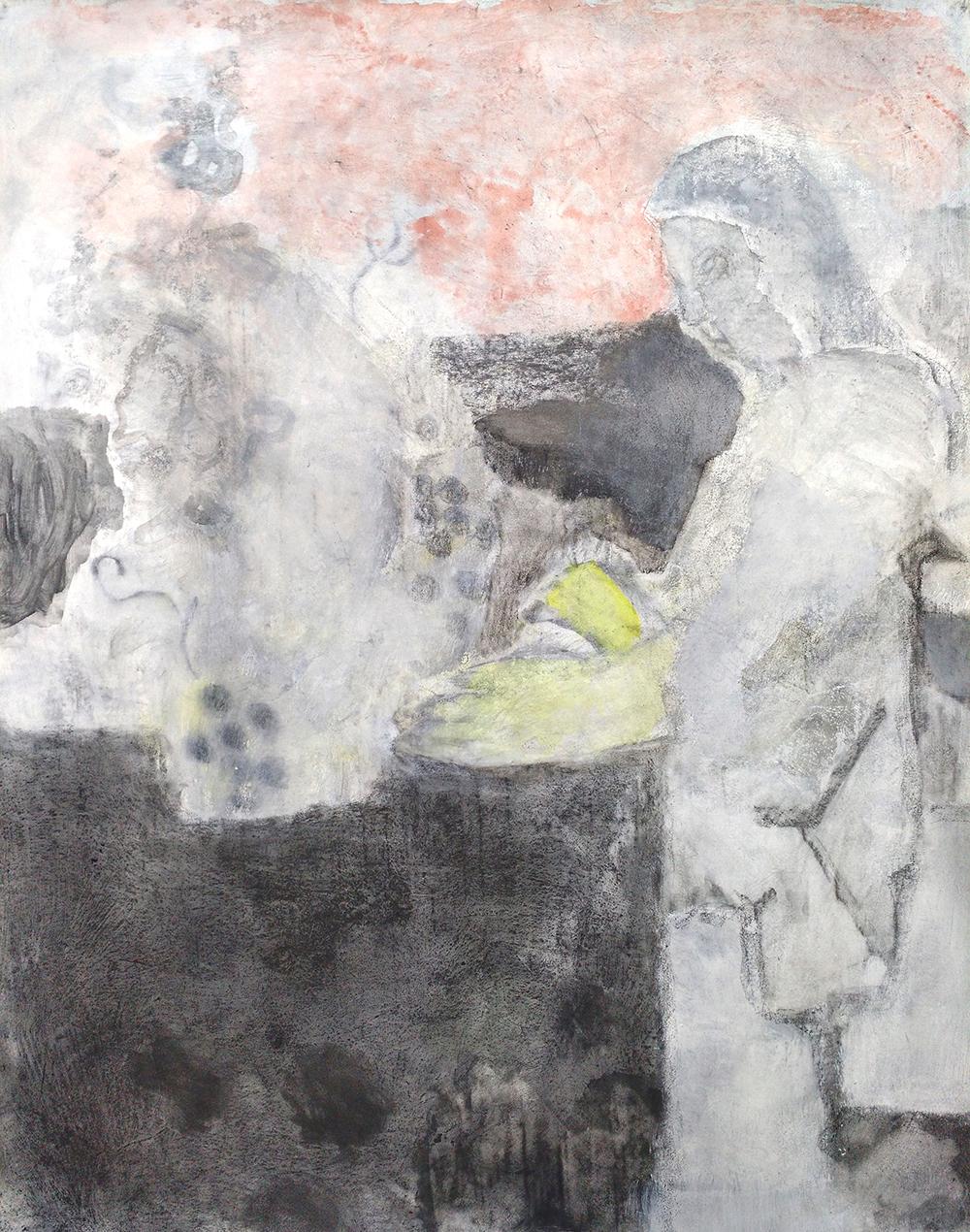 """Laurence Pilon, Les belles surprises , 2019, aquarelle et graphite sur papier préparé, 70 x 57 cm (27.5"""" x 22.5"""")"""