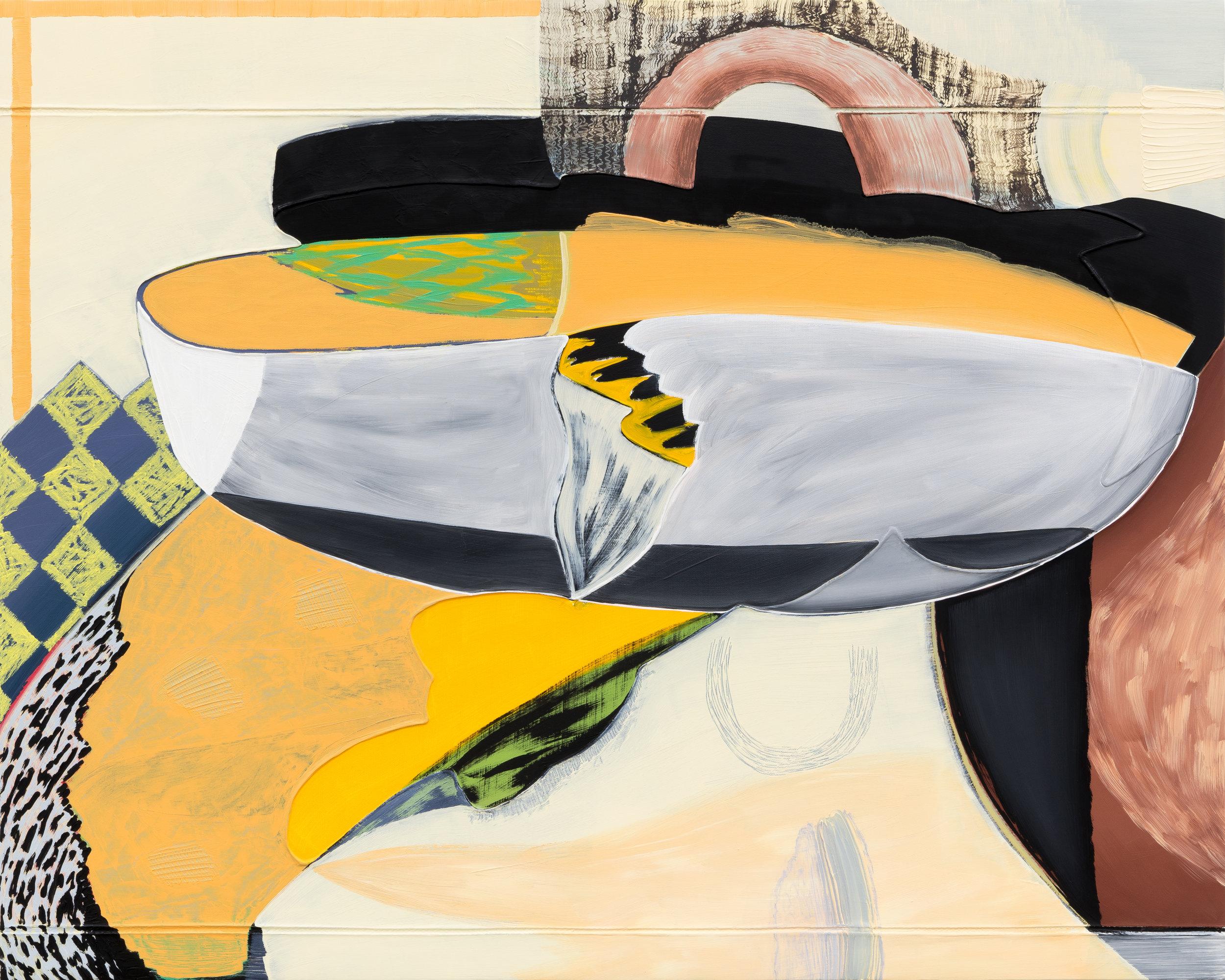 """Magalie Guérin,  Untitled (res 5.1) , 2019, huile sur toile sur panneau, 61 x 76  cm (24"""" x 30"""")"""