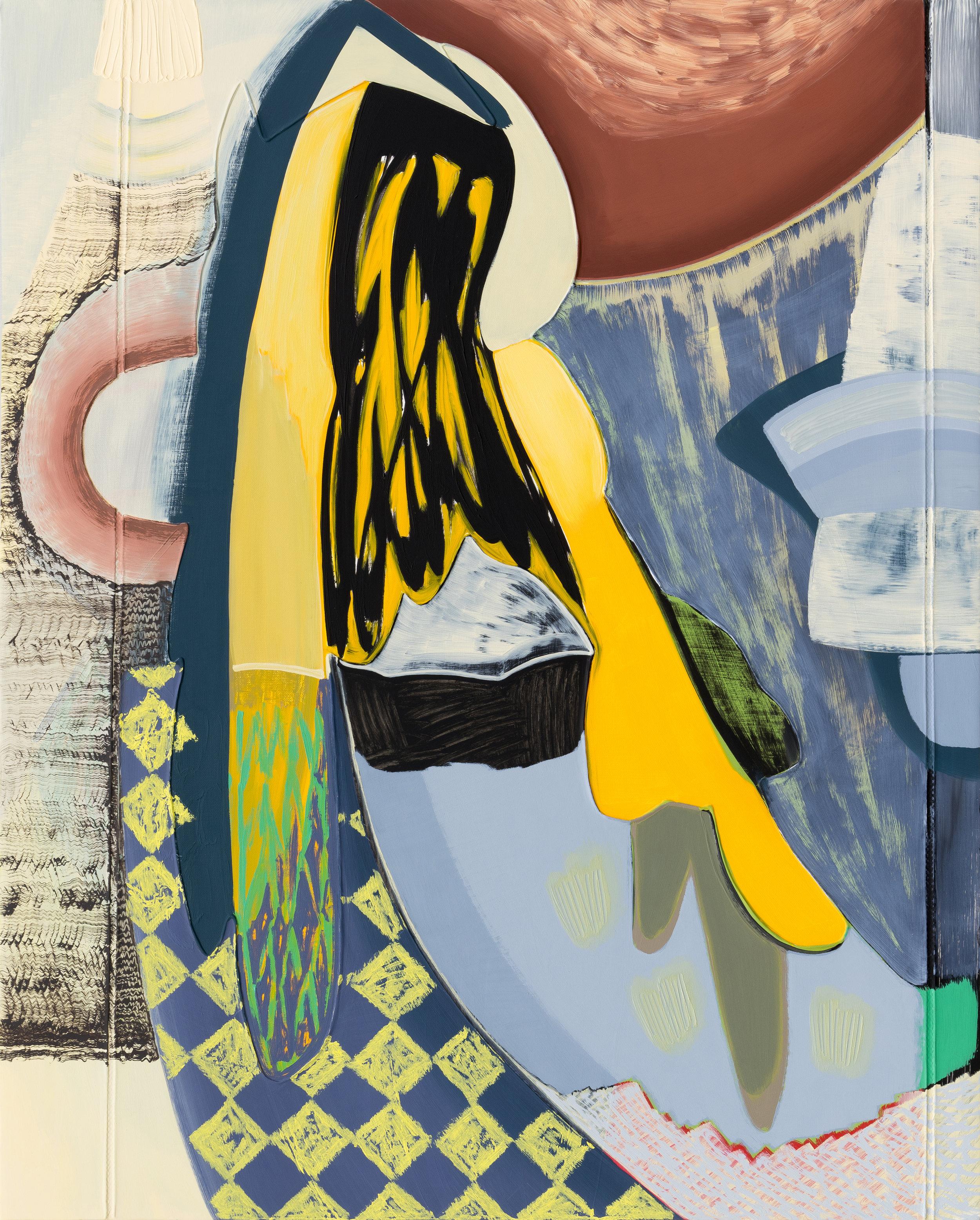 """Magalie Guérin,  Untitled (res 5.1) , 2019, huile sur toile sur panneau, 76 x 61 cm (30"""" x 24"""")"""