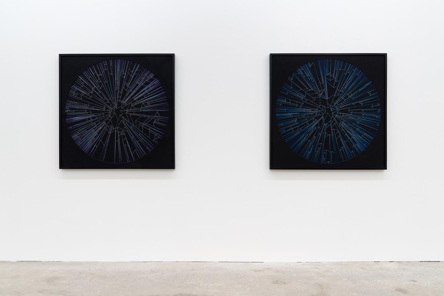 Ciel , 2019, vue d'exposition, Galerie Nicolas Robert, photo : Jean-Michael Seminaro