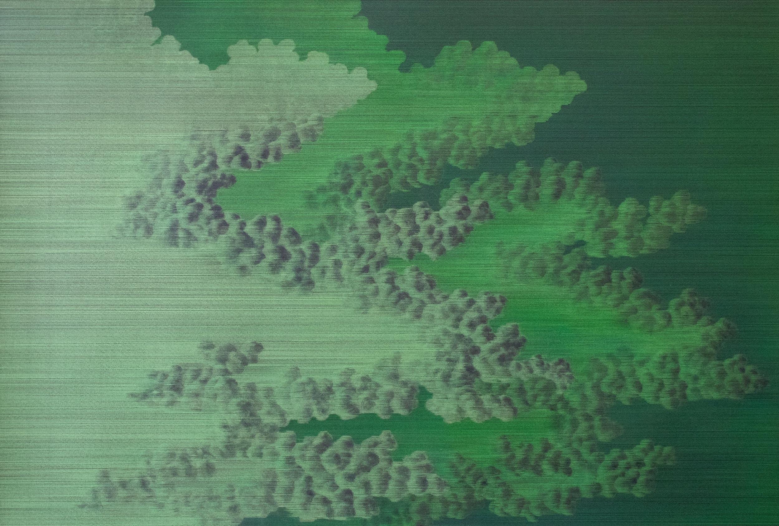"""Meaghan Hyckie,  Linux,  2019, crayon de couleur sur papier, 109 x 74 cm (43"""" x 29""""), courtoisie Olga Korper Gallery"""
