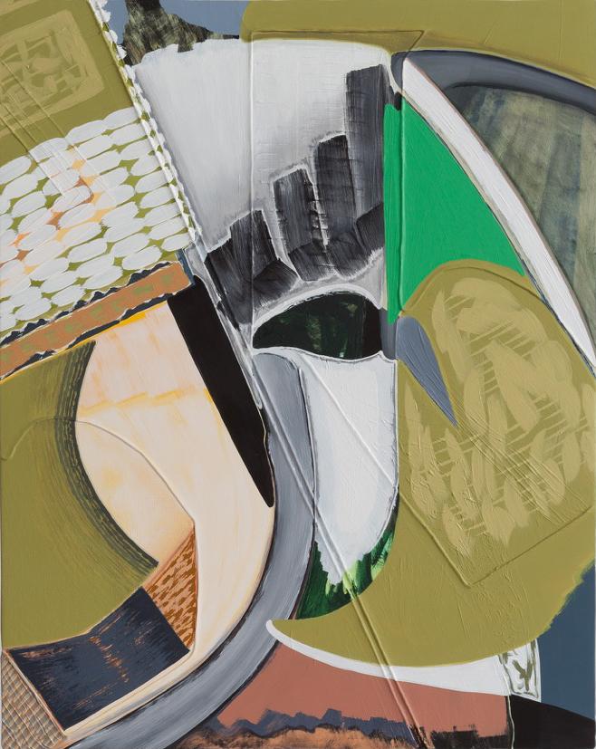 """Magalie Guérin,  Untitled (res 1.3),  2019, huile sur toile sur panneau, 51 x 41 cm (20"""" x 16"""")"""