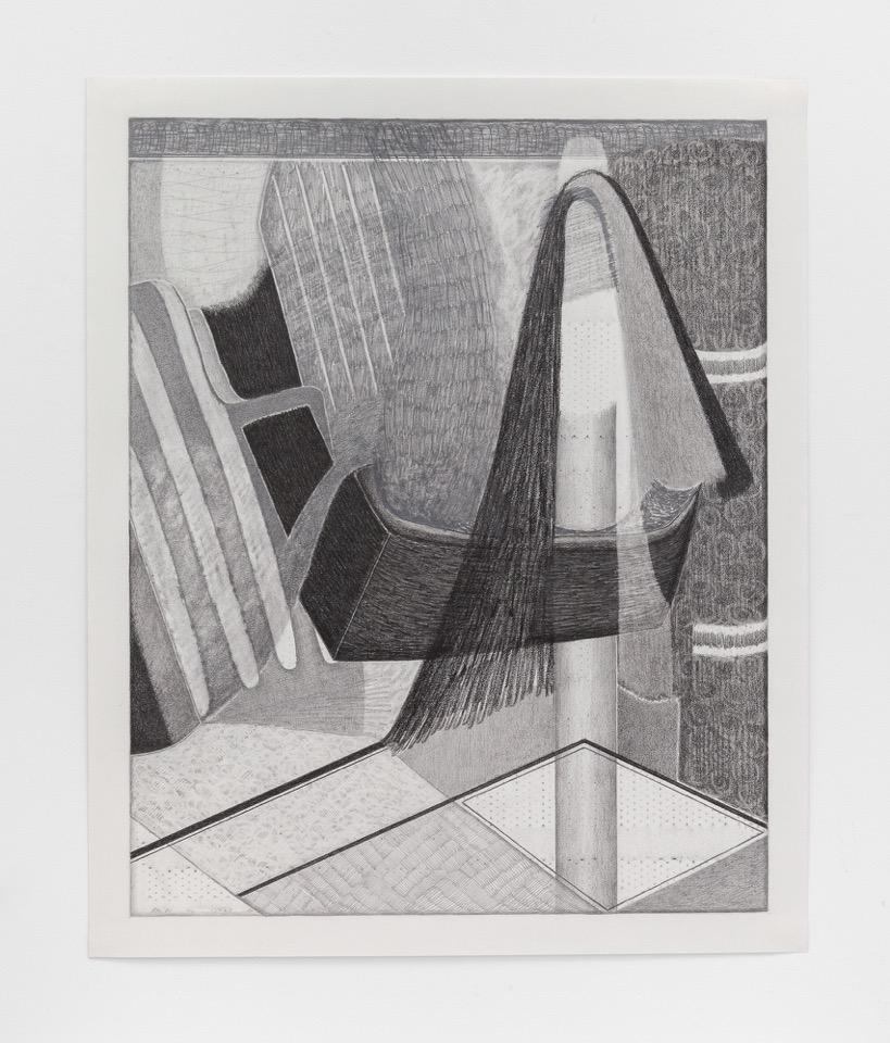 """Magalie Guérin,  Untitled (D1620-2018-18) , 2018, graphite sur papier, 56 x 46 cm (22"""" x 18"""")"""