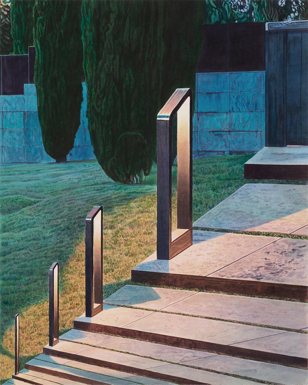 """Tristram Lansdowne,  Garden Path , 2019, aquarelle sur papier, 61 x 49 cm (24"""" x 19.5"""")"""