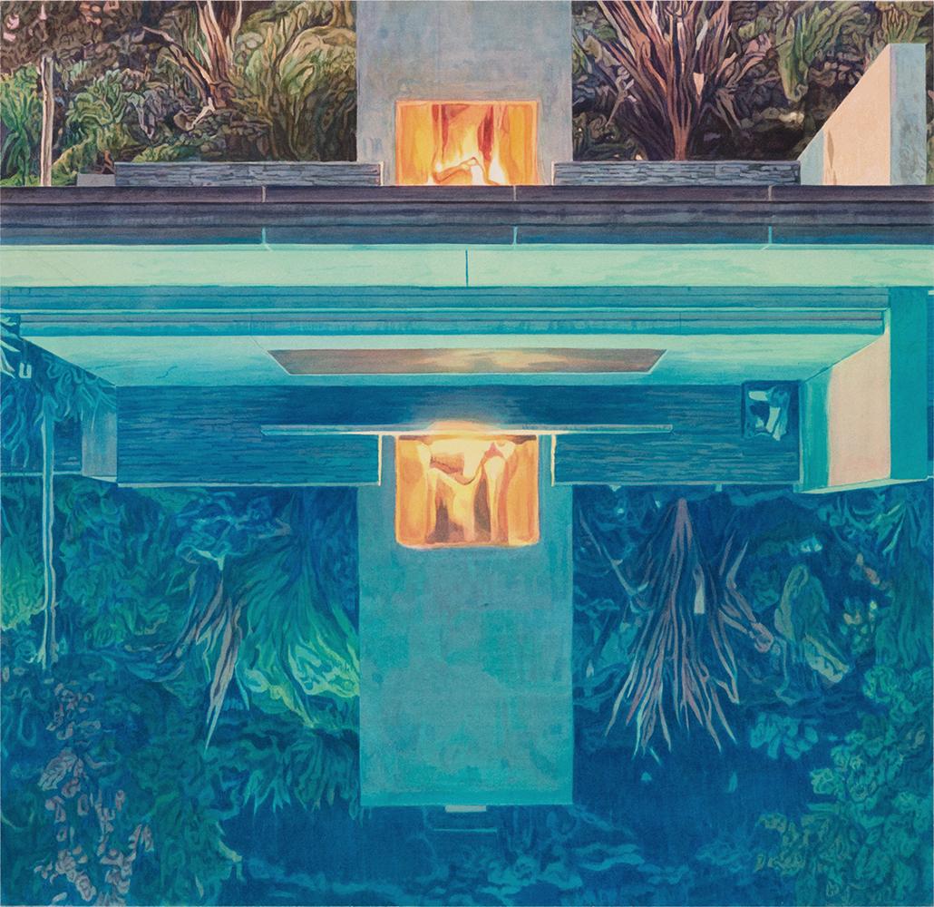 """Tristram Lansdowne,  Life swap II , 2019, aquarelle sur papier, 63.5 x 66 cm (25"""" x 26"""")"""