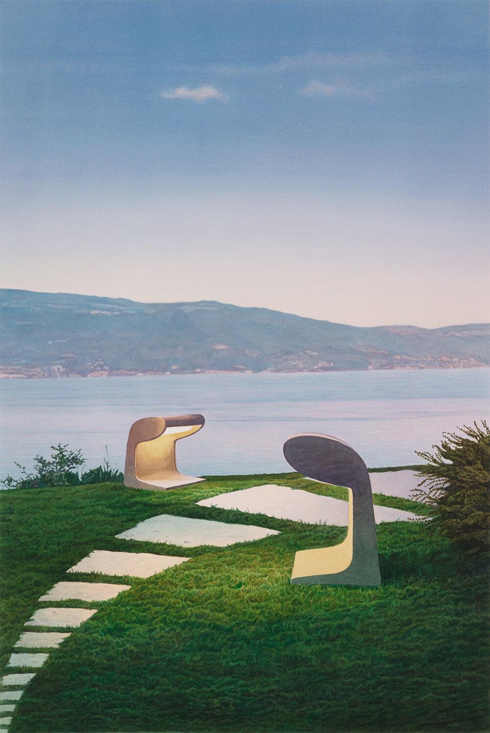 """Tristram Lansdowne,  Di-agnostics,  2019, aquarelle sur papier, 91 x 61 cm   36"""" x 24"""""""
