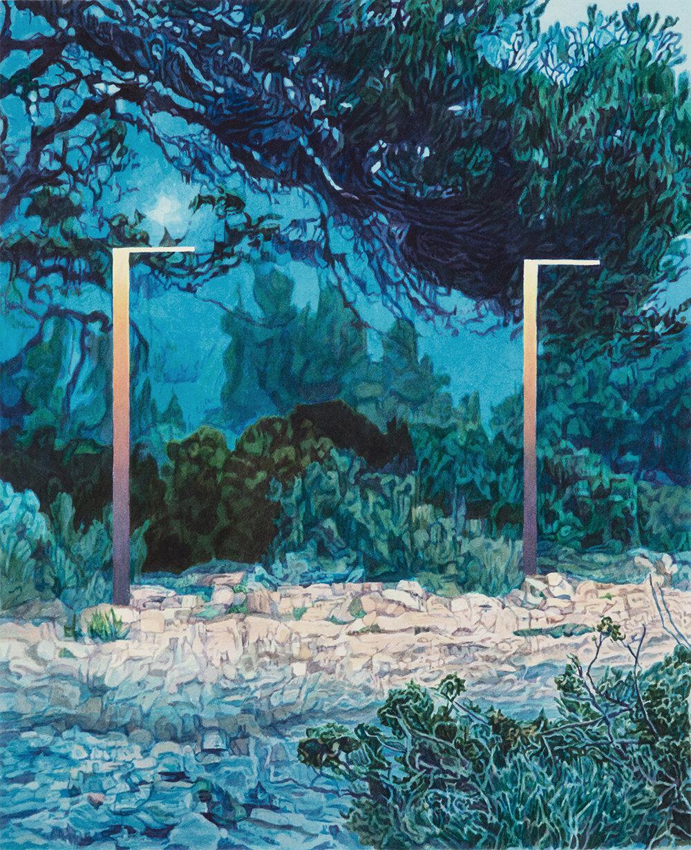 """Tristram Lansdowne,  Extract , 2019, aquarelle sur papier, 51 x 41 cm (20"""" x 16"""")"""