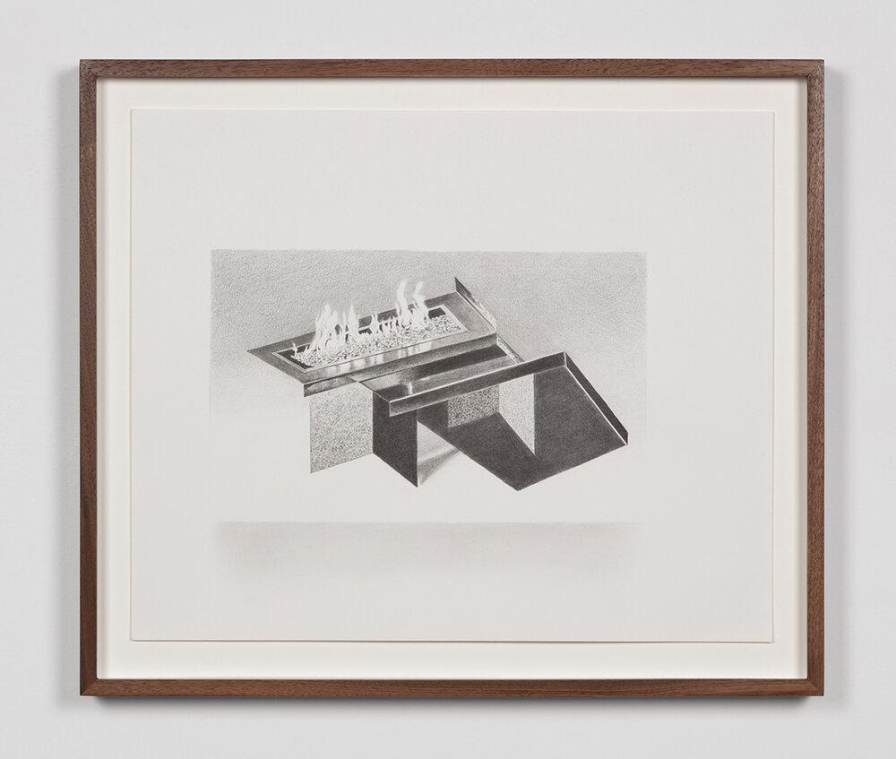 """Tristram Lansdowne,  Illuminations 01 , 2019, graphite sur papier, 35,5 x 43 cm (14"""" x 17"""")"""