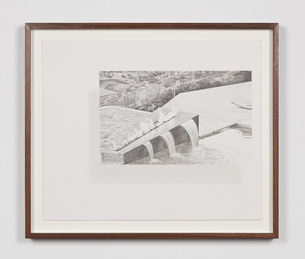 """Tristram Lansdowne,  Illuminations 02 , 2019, graphite sur papier, 35,5 x 43 cm (14"""" x 17"""")"""
