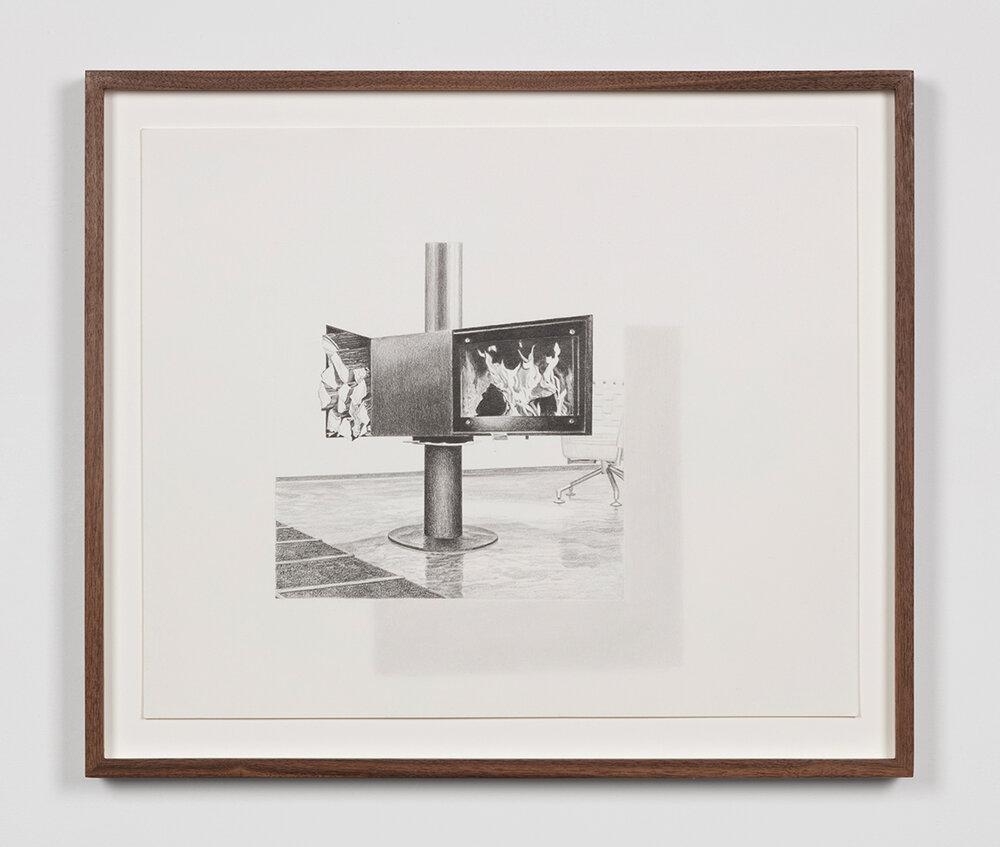 """Tristram Lansdowne,  Illuminations 03,  2019, graphite sur papier, 35,5 x 43 cm (14"""" x 17"""")"""
