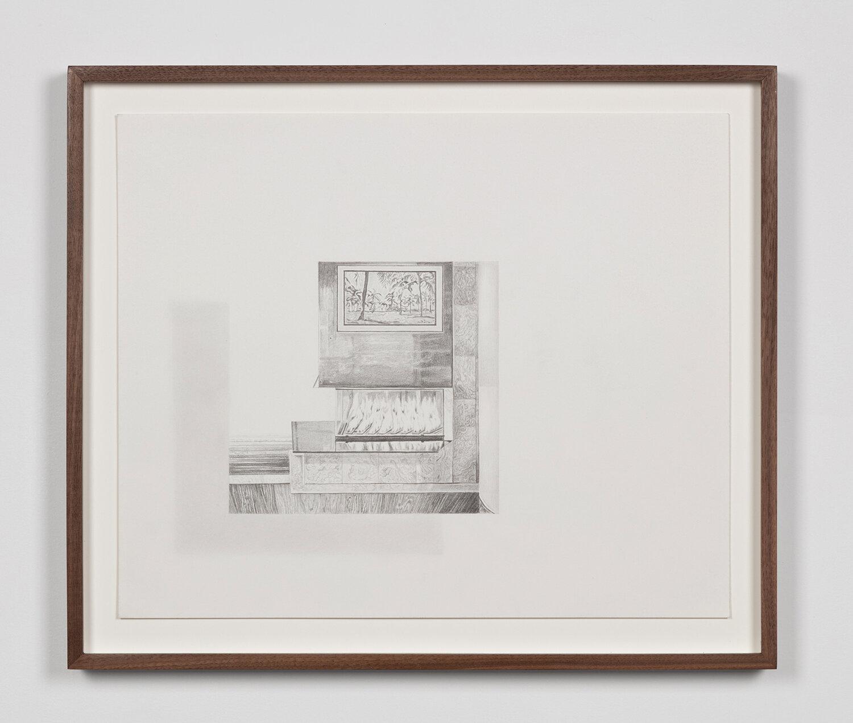 """Tristram Lansdowne,  Illuminations 04 , 2019, graphite sur papier, 35,5 x 43 cm (14"""" x 17"""")"""