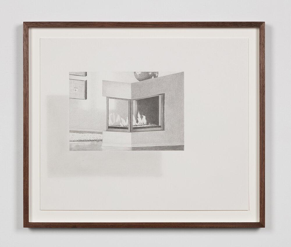 """Tristram Lansdowne,  Illuminations 05 , 2019, graphite sur papier, 35,5 x 43 cm (14"""" x 17"""")"""