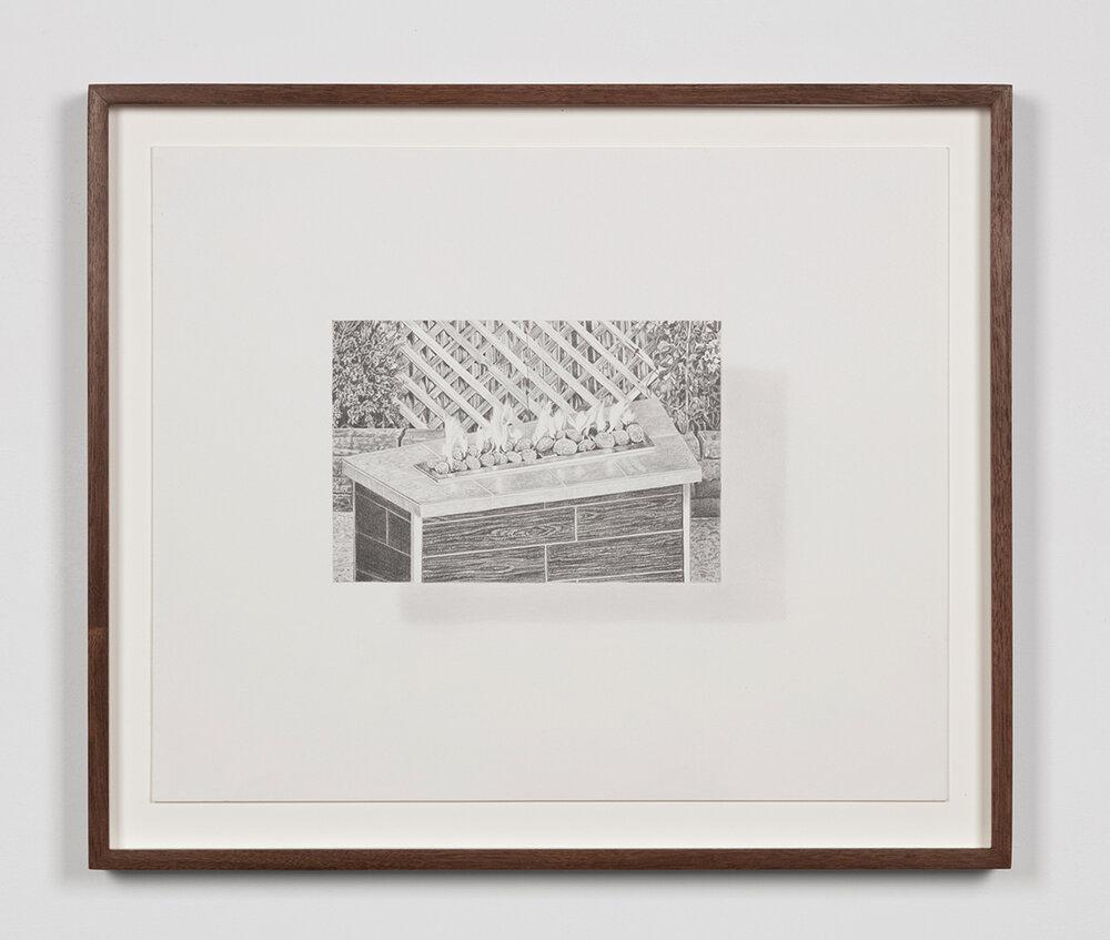 """Tristram Lansdowne,  Illuminations 06 , 2019, graphite sur papier, 35,5 x 43 cm (14"""" x 17"""")"""