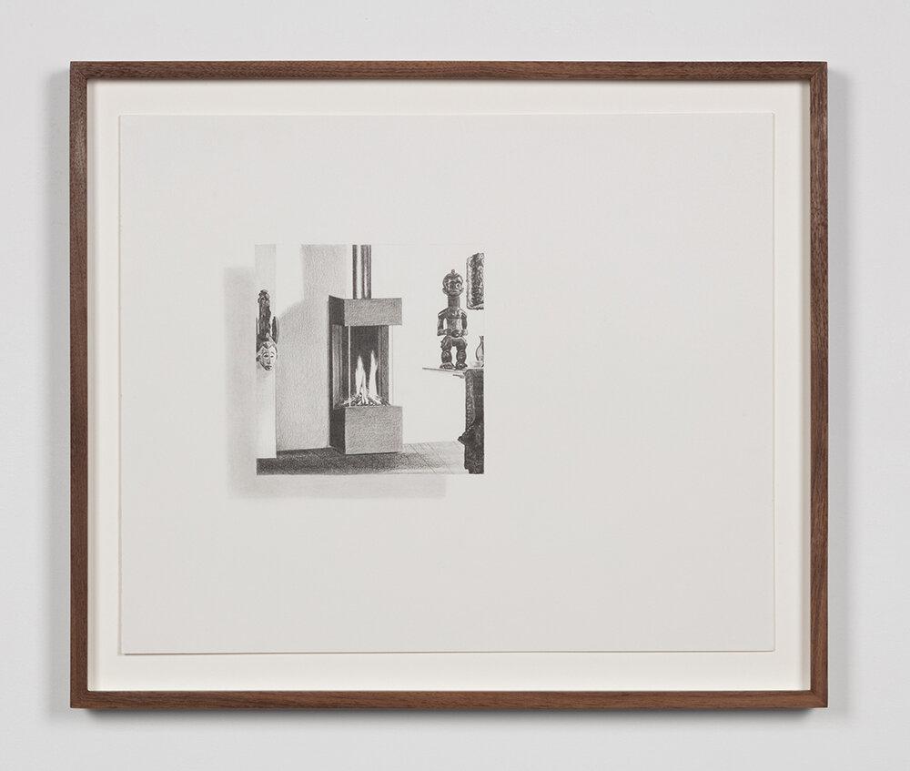 """Tristram Lansdowne,  Illuminations 07 , 2019, graphite sur papier, 35,5 x 43 cm (14"""" x 17"""")"""