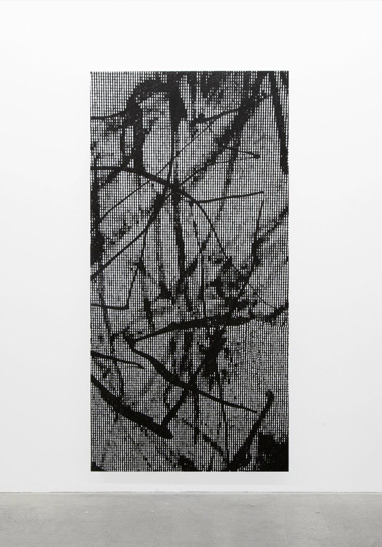 """Jérome Nadeau,  SLUG139,  édition unique, 2019, impression jet d'encre sur toile, 195,5 x 96,5 cm (77"""" x 38"""")"""