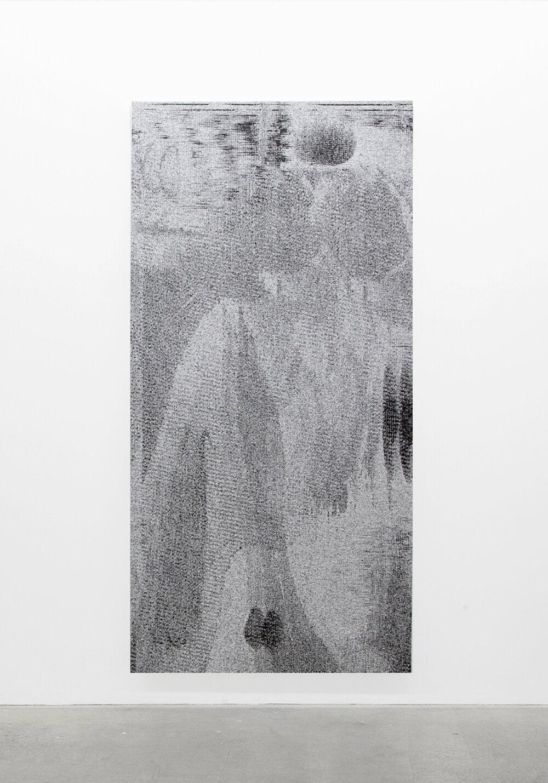 """Jérome Nadeau,  Less lost,  édition unique, 2019, impression jet d'encre sur toile, 195,5 x 96,5 cm (77"""" x 38"""")"""