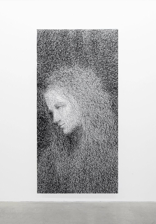 """Jérome Nadeau,  Sans titre,  édition unique, 2019, impression jet d'encre sur toile, 195,5 x 96,5 cm (77"""" x 38"""")"""