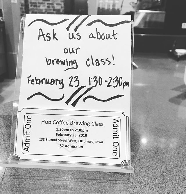 Yes we're open and yes we still have tickets left for our class this weekend! But we only have a few tickets left so stop in today to snag yours. And while you're at it don't forget your coffee to warm up your snowy day. 🙂☃️☕️