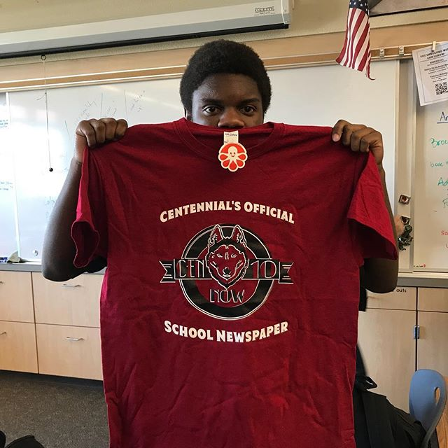 Check out your school newspaper's t-shirts!  #cen10