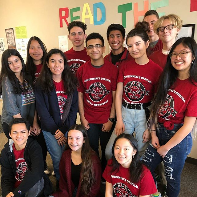 Our members are having a great time working on articles for the school newspaper! #journalism #cen10huskies