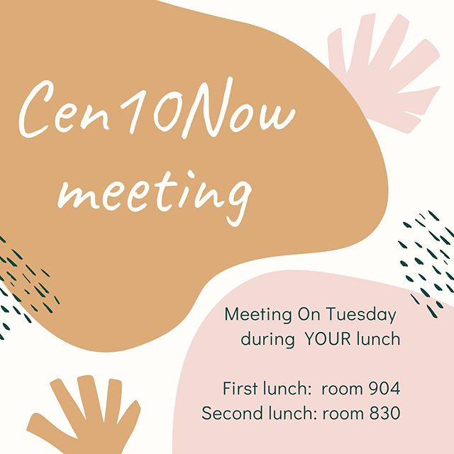 Come during YOUR lunch. Bring a friend! If you have an article don't forget to submit it into the google doc!!