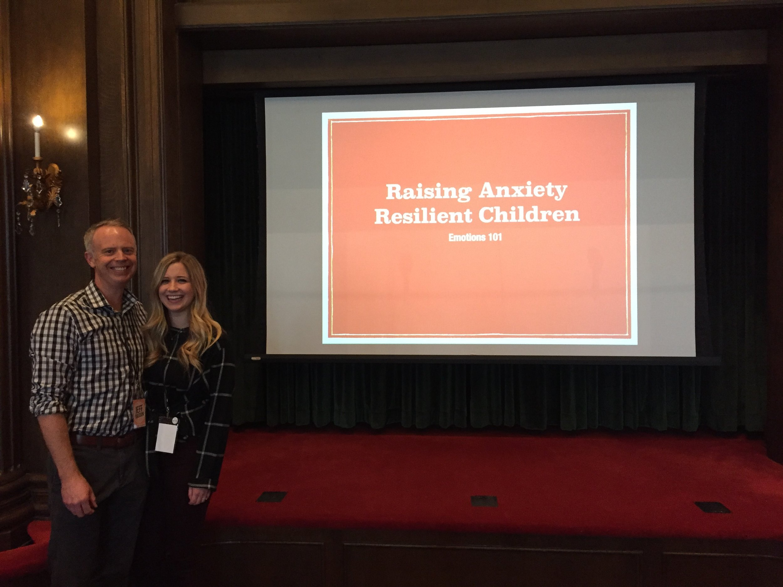 My daughter, Kennedy and I presenting at the Anxiety Disorders and Mormonism Conference on,  Raising Anxiety Resilient Children.