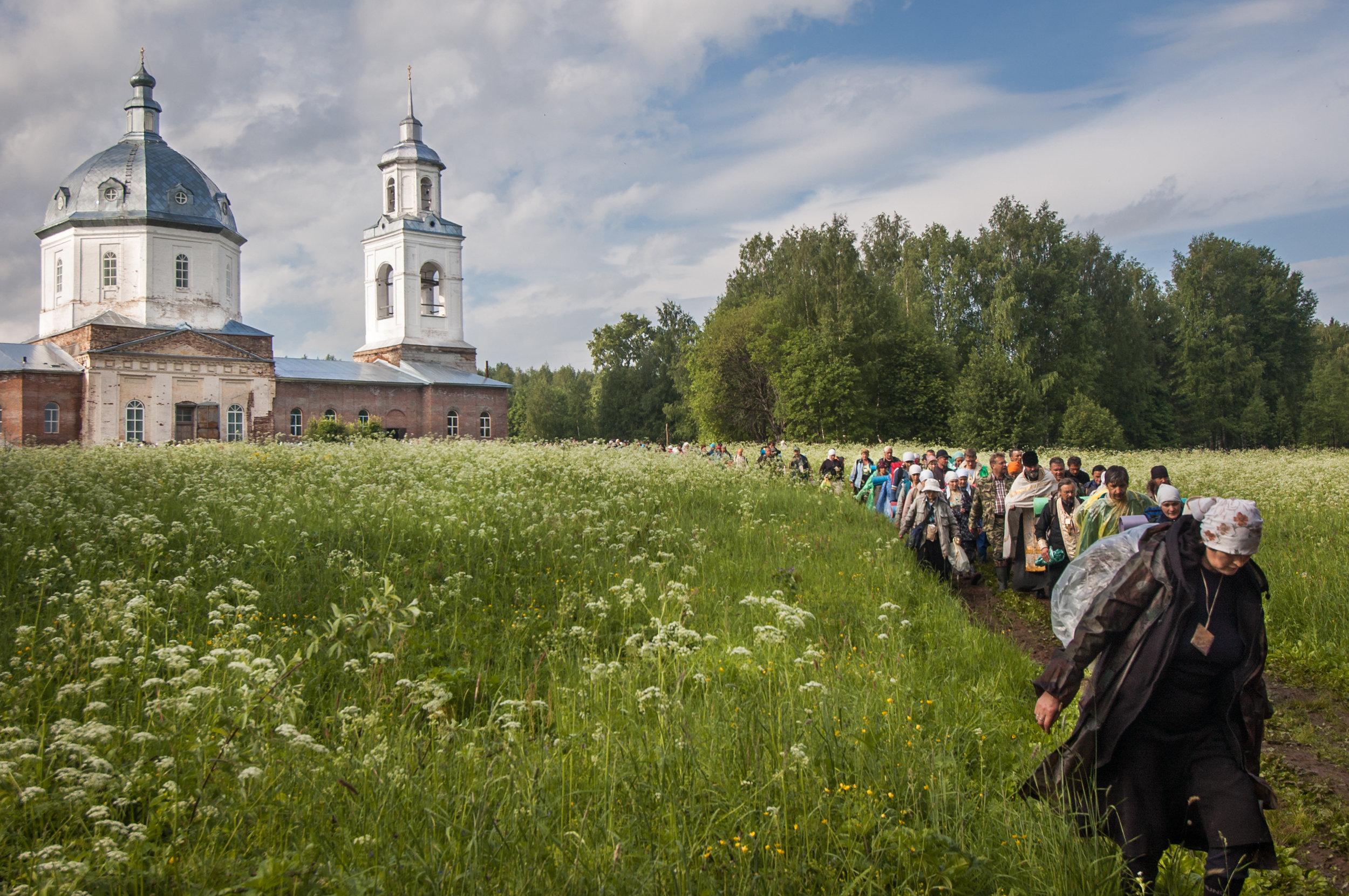 Velikorestskoye procession of the cross, day 3, Kirov region, June 2009