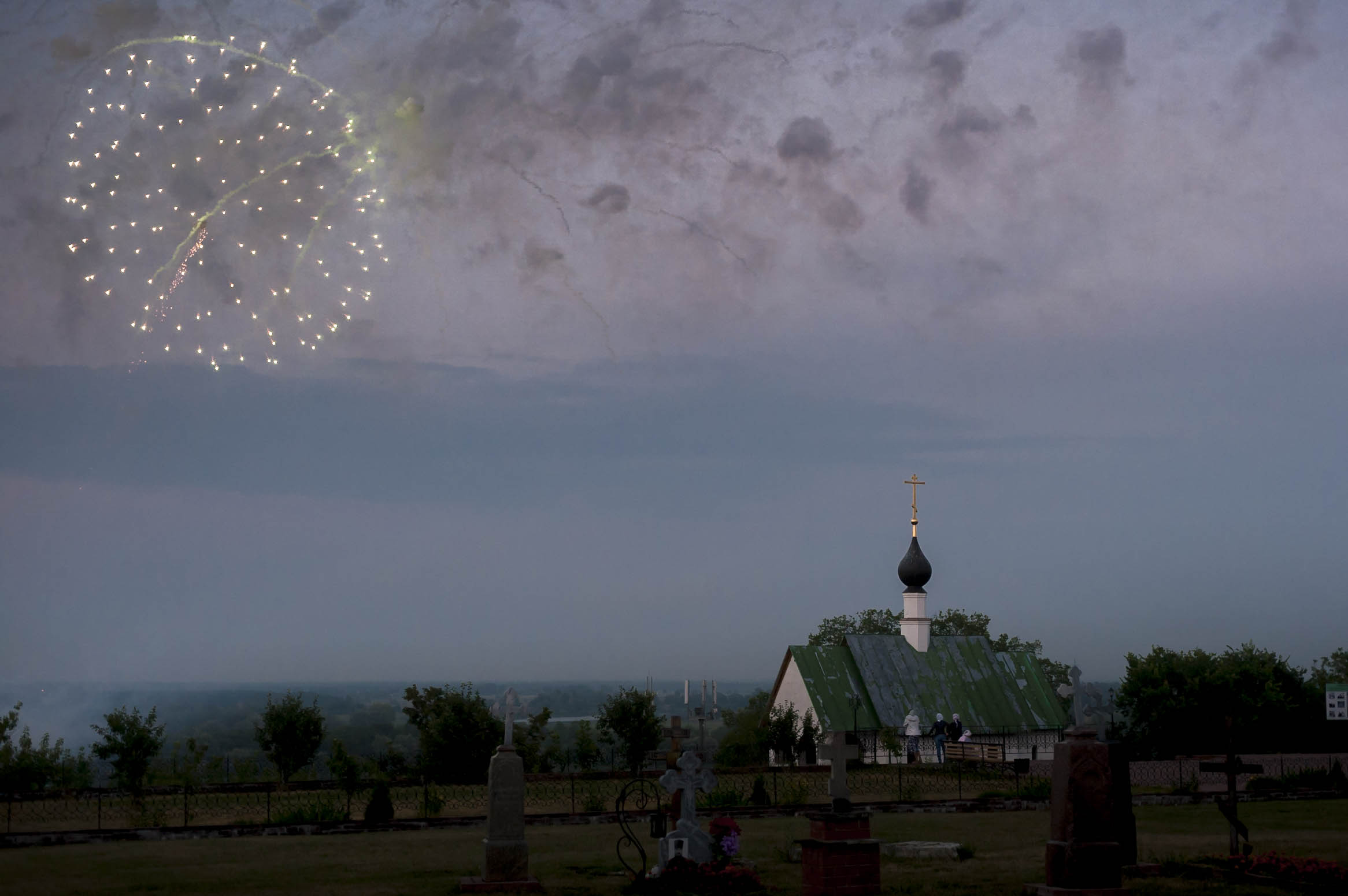 Fireworks over Murom, July 2013