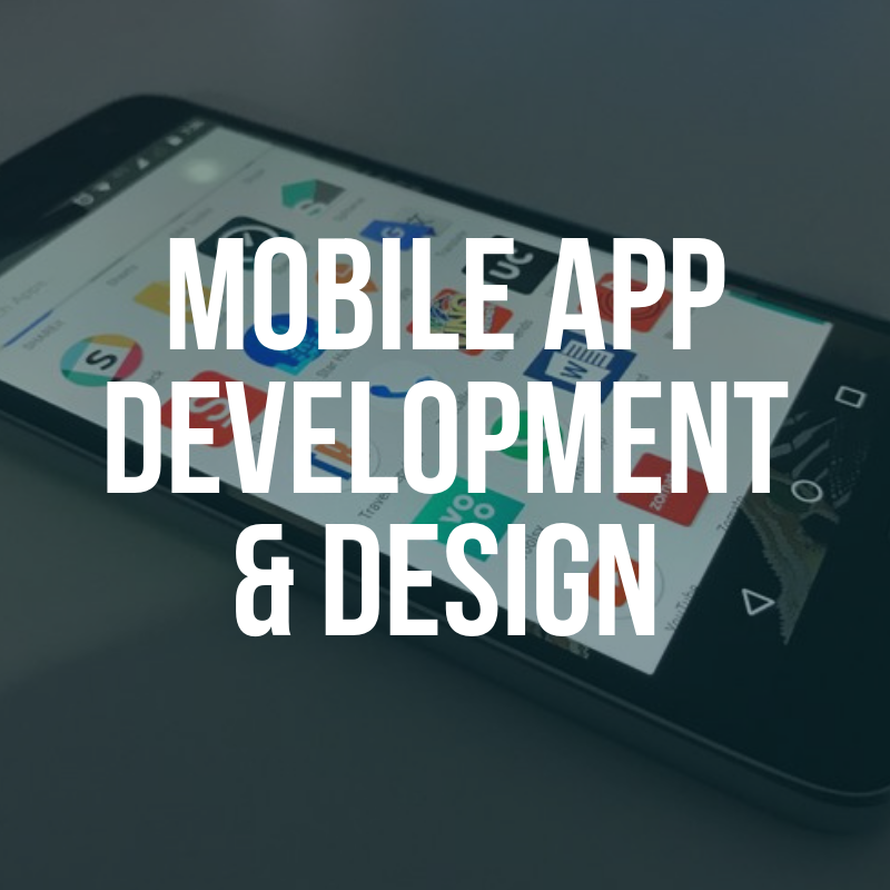 Mobile App Development and Design Button