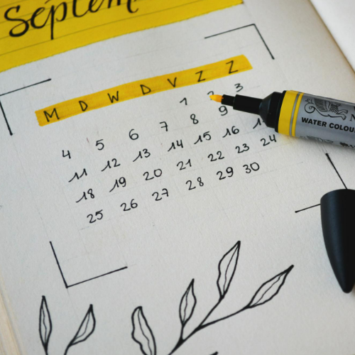 Yellow and White Calendar for Planning