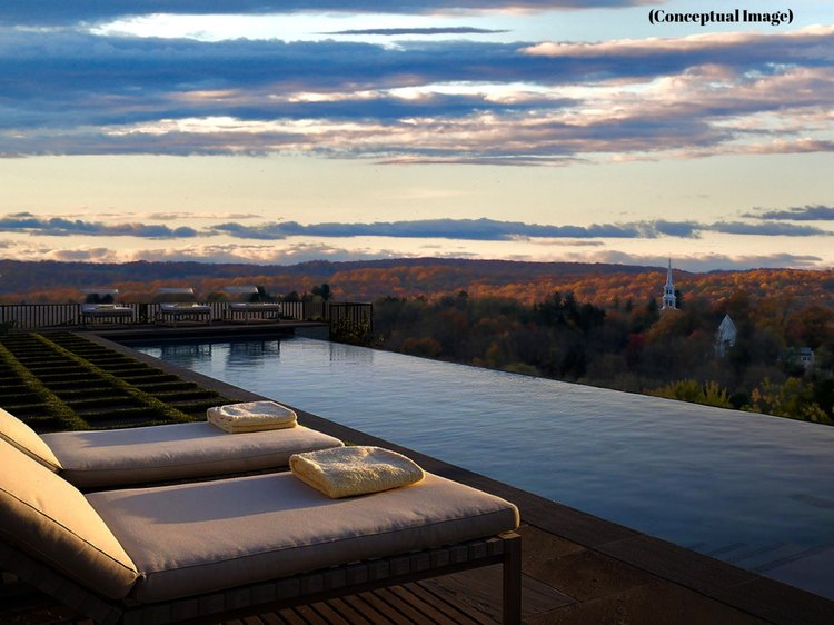 ROOF TOP POOL WITH SUNSET
