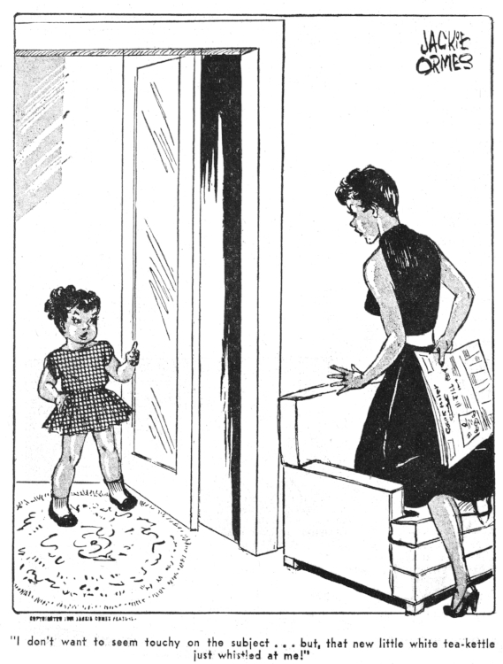 Jackie Ormes , Patty-Jo'n'Ginger  in  The Pittsburgh Courier , October 8, 1955