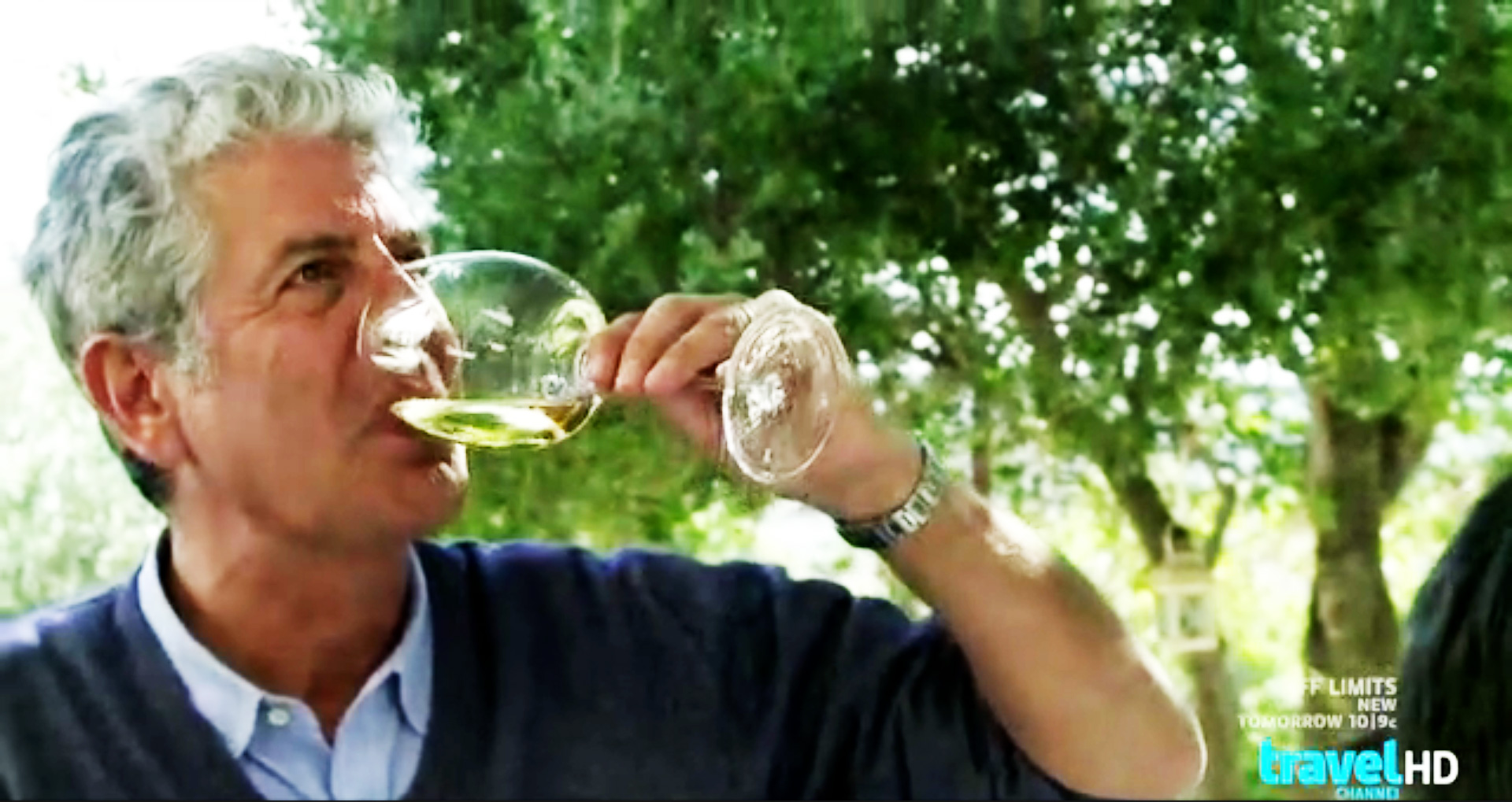 Anthony Bourdain sampling wine in Croatia. Click this image to view the full episode of No Reservations: Croatian Coast.