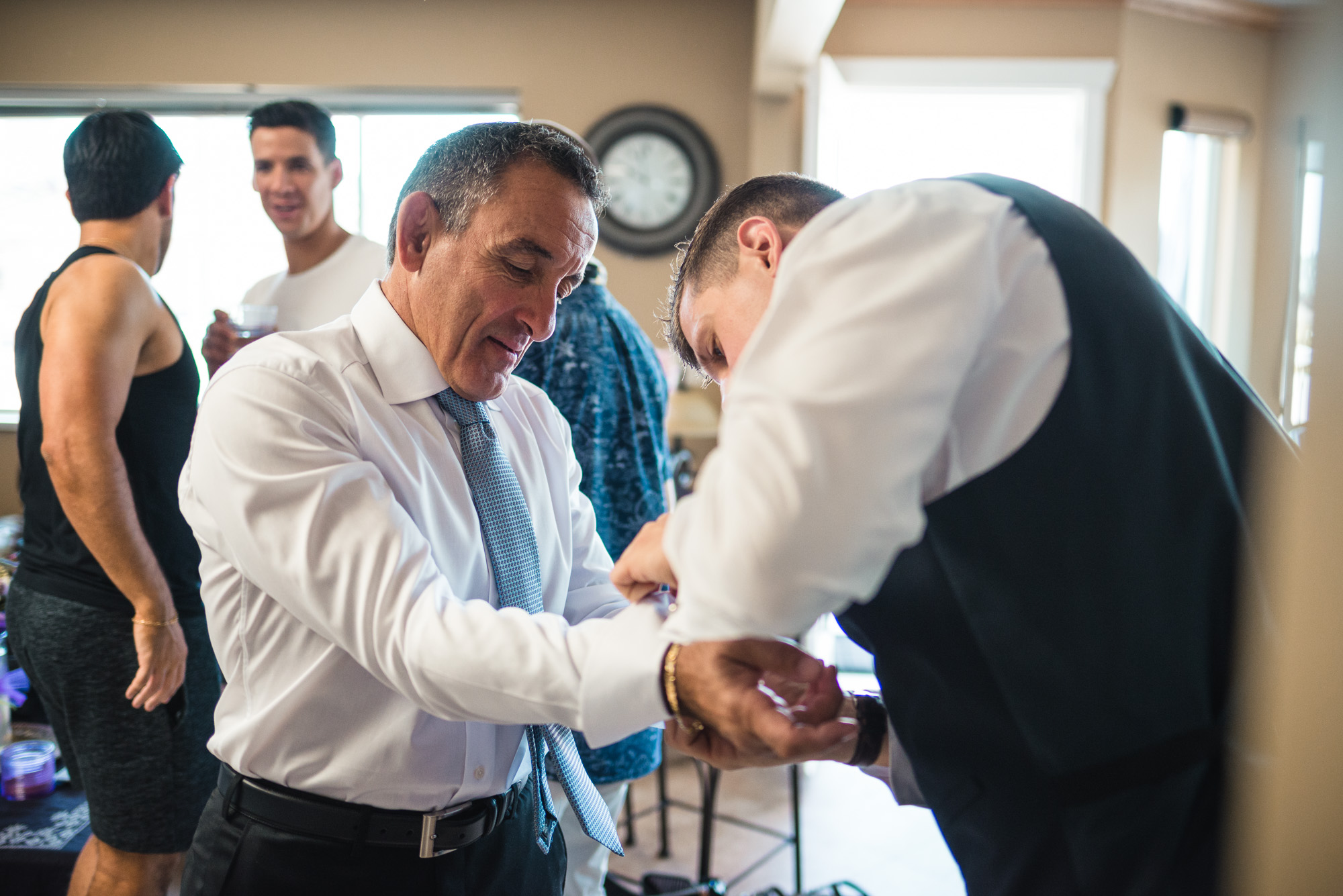 Father of the groom cufflinks prep